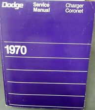 1970 Dodge Charger Coronet Super Bee R/T 440 6 Pack Hemi Shop Service Manual New