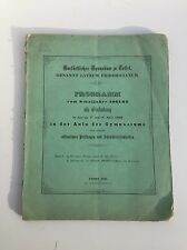 Antique German Mathematics Math Text 1862 Otto Weber Number of Plato Republic