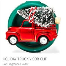 Bath and Body Works Holiday Truck Tree Scentportable Car Fragrance Visor Clip