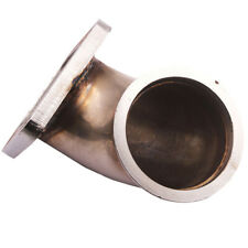 """T3 Flange to 3.0"""" V-Band SS Turbo Elbow Downpipe Adapter Stainless Steel 304"""