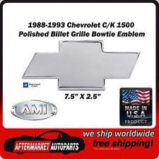 88-93 Chevrolet C/K 1500 Truck Polished Aluminum Bowtie Grille Emblem AMI 96001P
