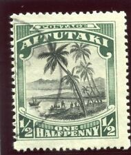 Cook Islands Aitutaki 1920 KGV ½d black & green very fine used. SG 24. Sc 28.