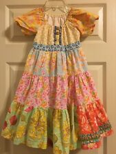 Matilda Jane Platinum Shutterbug Tiered Peasant Dress Numbered VHTF Girls Size 8