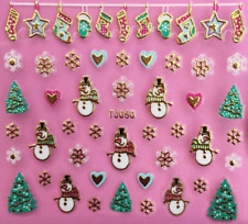 Nailart Stickers Autocollants Ongles Déco Noël Scrapbooking Chaussettes Coeurs