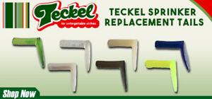 Teckel Sprinker Frog Spare Paddle Tail 4 pack Kit - Choose Color