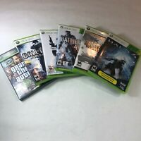 Lot of 6 Xbox 360 games: Halo, Battlefield, Call of Duty and Grand Theft Auto IV