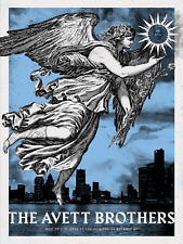 The Avett Brothers 11/10-11/2016 VIP Poster Detroit MI Signed & Numbered