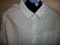 Mens Metro Exchange Long Sleeve Button Down Shirt Size 2XL XXL Flip Cuffs Collar