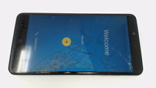 ZTE ZMax Pro Z981 (Blue 32GB) Metro PCS CRACKED GLAS/LCD BROWN STAINS/BAD BATRY