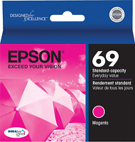New Genuine Epson 69 Magenta Ink Cartridge WorkForce 1100 WorkForce 40