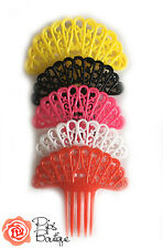 New Childs Spanish Flamenco Hair Comb Peineta Small Red Black Pink White Yellow