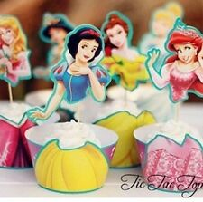 12 X Cupcake Cup Cake Decorating,Toppers Wrapper DECORATION, Disney Princess