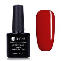 Red Nail Soak Off UV Gel Polish Nail Art LED Gel Varnish Red 7.5ml UR SUGAR 605