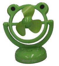 Green Frog Fan Battery Operated USB PC Laptop Desktop Portable Cooling Fans