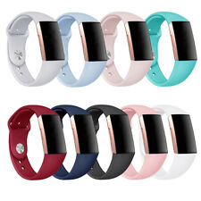For Fitbit Charge3/4 Watch Band Replacement Silicone Luxury Bracelet Wrist Strap