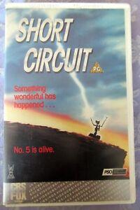 SHORT CIRCUIT VHS PAL BIG BOX CBS FOX EX RENTAL. NO. 5 IS ALIVE!