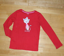 GYMBOREE HOLIDAY SHOP RED BAH HUMBUG LS KITTY TOP GIRLS 7 COTTON WINTER