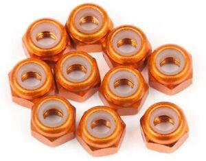 HPI 104120 Aluminum Thin M3 Lock Nut Orange (10) E-Firestorm 10T Blitz Flux
