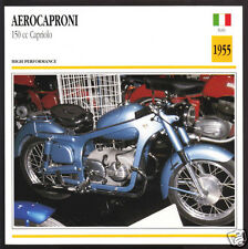 1955 Aerocaproni 150cc Capriolo (149cc) Italy Motorcycle Photo Spec Info Card