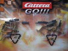 Carrera GO ORIGINAL Auto Schleifer 8 Stück (=4 Autos) + Leitkiele auch für D143