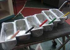 Six New Five-Liter Gelato Pans w/ Spatulas Included