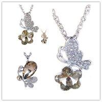 Très joli cristal papillon collier multiple choix
