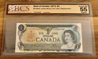 1973 $1 BANK OF CANADA REPLACEMENT *FG- CERTIFIED BCS ALMOST UNC 55