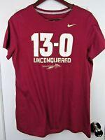 Nike XL Shirt Florida State Seminoles Football 13-0 Unconquered Perfect Season