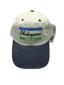 Shakespeare Fishing Hat New With Tags Tan With Denim Blue Brim Buckle Back