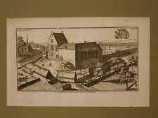 Gravure de Harrewijn, Belgique, Château de la Tour