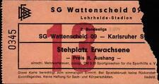 Ticket II. BL 83/84 SG Wattenscheid 09 - Karlsruher SC, 18.02.1984