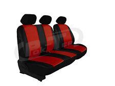 Sitzbezug Bus/Transporter Ecoleder DUNKELROT Fahrersitz und 2er-Beifahrersitz