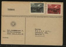 Switzerland   2  soldier  stamps   on  cover             KL1016