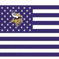 Minnesota Vikings 3x5 Foot American Banner Flag New