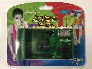 ELC03_038a Easy Shot Green Translucent 35mm Single Use Camera