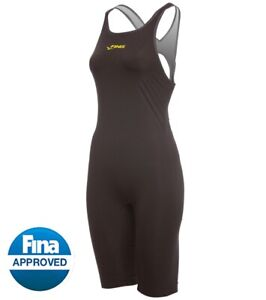 FINIS Onyx Race John Neck to Knee Tech Suit Open back size: 22 NWT