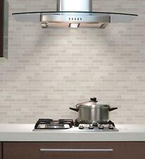 Natural Beige Tile Effect Wallpaper Glitter Brick Stone Kitchen Bathroom Modern