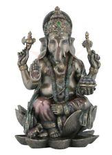 Ganesha Lotusthron Hinduismus Brahman Figur Skulptur bronziert Statue 708-4301