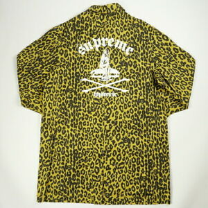 SUPREME HYSTERIC GRAMOUR 21SS HG Leopard Trench Jacket YELLOW L