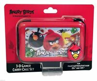 Angry Birds Nintendo 3DS DSi Red Carry Case Set with 3D Lenticular Picture NEW