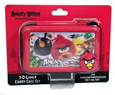 Angry Birds Nintendo 3DS DSi rouge BOITIER DE TRANSPORT SERTI 3D Lenticulaire