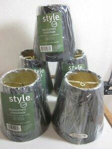 """Style #528 Black Lamp Shades Clip-On 5"""" lot of 5-NEW"""