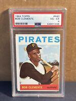 "1964 Topps Roberto ""Bob"" Clemente #440 Pittsburgh Pirates HOF PSA 4 VG-EX"