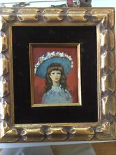 Original Framed Girl Portrait Oil Painting Signed H.Mundy Guild Of Master D47