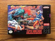 SUPER NINTENDO STREET FIGHTER 2 GAME IN BOX ITEM #735-40