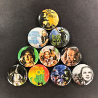 """The Wizard of Oz 1"""" Button (10 Pin) Set Classic Dorothy Rainbow Witch"""