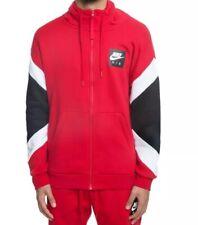 Nike Sportswear 'Nike Air' Full Zip Hooded Jacket 928629-687 Red Size XXL New