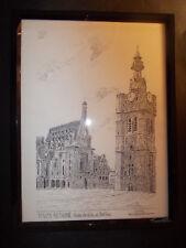 BETHUNE Beffroi Grand Place Hotel de Ville art déco gravure Yves DUCOURTIOUX