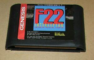 F22 Interceptor for Sega Genesis Fast Shipping! Authentic