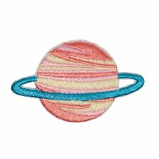 Saturn Planet (Iron on) Embroidery Applique Patch Sew Iron Badge